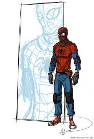 caricature the more real spiderman
