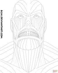 titan from attack on titan coloring page free printable coloring