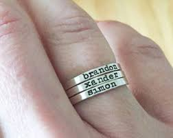 Name Rings Silver Silver Name Ring Etsy