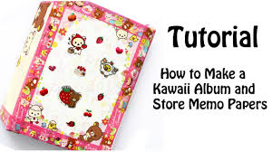memo photo album diy how to make a kawaii album and store memo papers tutorial