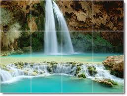 waterfalls picture bathroom tile mural w036