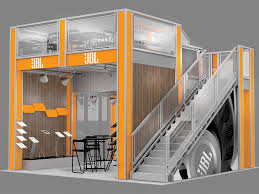 rent a photo booth selection of two story deck trade show exhibits
