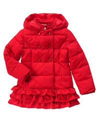 olivia ruffle puffer jacket puffer jackets gymboree and toddler