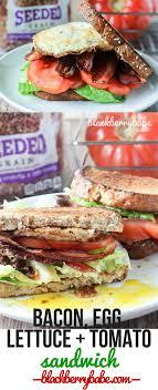 pepperidge farm light bread belt sandwich bacon egg lettuce and tomato sandwich blackberry