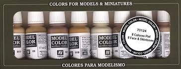 vallejo model color face skin colours acrylic paint set assorted