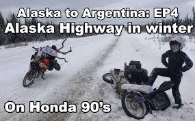 Winter Motorcycle Tires Ep4 The Alaska Highway On Motorbikes In Winter Alaska To