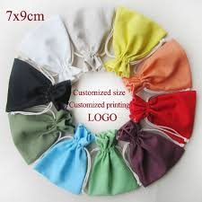 wedding gift malaysia linen cotton drawstring bag thick linen pouch wedding gift bags