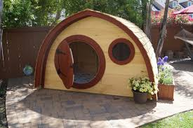hobbit hole playhouse kit with cedar clapboard roofing