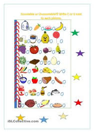 countable uncountable nouns fruits and vegetables pinterest