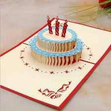 3d stereoscopic creative birthday cake greeting cards handmade