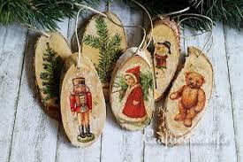 vintage wood christmas ornaments allfreechristmascrafts com