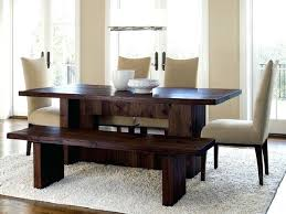 Dining Tables With Bench And Chairs Casual Dining Room Design With Prairie 6 Piece Dark Wooden Dining