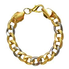 bracelet gold man silver images Buy men style dualtone gold silver link multicolor alloy bracelet jpg