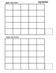 write the alphabet grid the alphabet writing centers and alphabet
