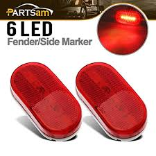led clearance lights motorhomes partsam 5 amber 5 red surface mount side marker 6 leds clearance