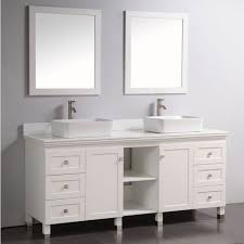 Discount Double Vanity For Bathroom Bathroom J International 70 Pearl White Mission Double Vanity Sink