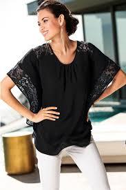 unomatch women lace blouse bat style sleeves top black u2013 unomatch shop