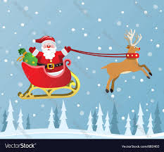 santa claus and reindeer royalty free vector image