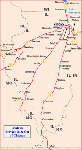 Amtrak Map Usa by Amtrak Pere Marquette Service Out Of Chicago