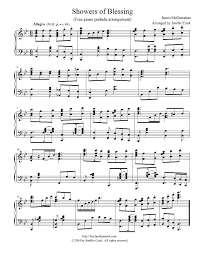 showers of blessing advanced piano prelude style free