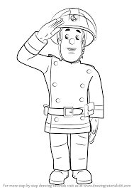 learn draw fireman sam fireman sam step step drawing
