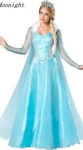 princess anna elsa queen girls cosplay costume party formal dress