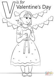 v is for valentine u0027s day coloring page free printable coloring pages