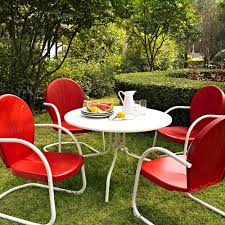 Patio Dining Sets For 4 by Amazon Com Crosley Furniture Griffith 5 Piece Metal Outdoor