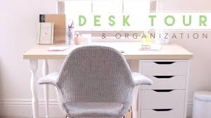 Desk Organized by Desk Tour How I Organize My Desk Youtube