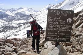 Sierra High Route Map by The Sierra High Route U2013 Sierra Mountain Center