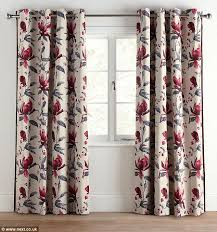Mauve Curtains Next Next Ridiculed For Curtains With Floral Design U0027that Looks Like A