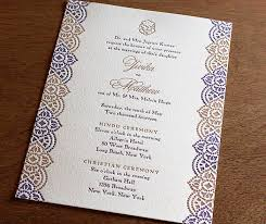 modern hindu wedding invitations indian letterpress wedding invitation gallery jivika