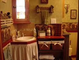 find and save related for country primitive bathroom decorating