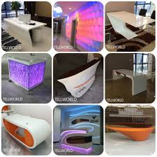 Buy Reception Desk by Prefab Modern White Ligthed Standing Reception Desk Buy Standing