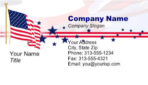 Free Military Business Cards Patriotic Patriotic Business Cards Candidate Information Cards