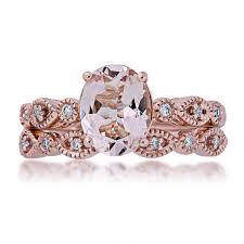 morganite wedding set morganite and diamond wedding set in 14 kt pink gold gj17181r