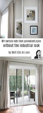 Curtains Without Rods Curtain Rods From Galvanized Pipes Without The Industrial Look