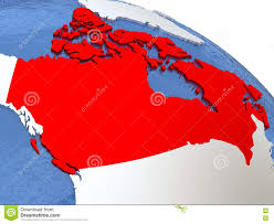 Canada On A Map by Canada On Globe Stock Illustration Image 78681239