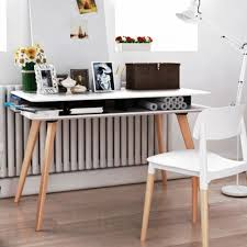 White Modern Desk P Kolino Modern Desk White Pkffmdkwht