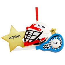 lacrosse ornaments personalized ornaments for you