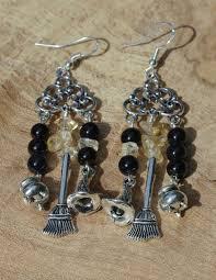 Citrine Chandelier Earrings Onyx And Citrine Chandelier Earrings Jewellery Witch
