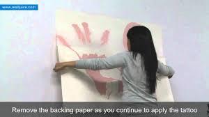 wall tattoo installation instructions youtube