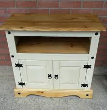 Mexican Pine Bookcase Mexican Pine Tv Cabinet In Hemp Beige Chalk Paint Shabby Chic In