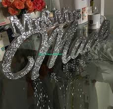 mr mrs sign for wedding table silver glitter mr mrs with last name mr and mrs last name table