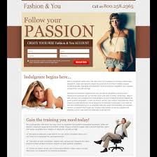 fashion and modeling landing page design to increase leads and