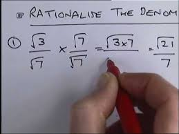 how to rationalise the denominator with surds wmv youtube
