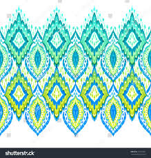 beautiful seamless ikat border horizontal lace stock illustration
