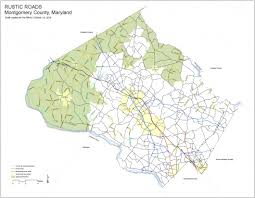 maryland byways map rustic roads montgomery planning