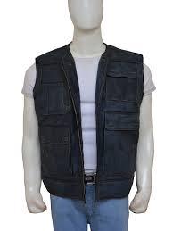 leather vest star wars return of the jedi han solo black vest instylejackets