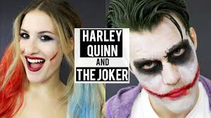 harley quinn the joker halloween makeup tutorial couples
